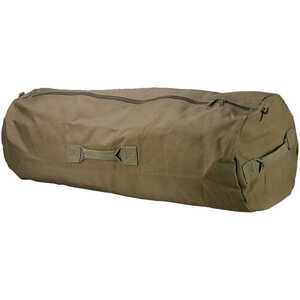 "42"" x 25"", Green Texsport Zippered Canvas Duffle Bag"