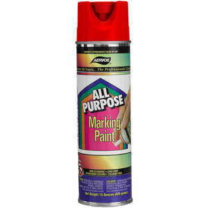 Aervoe All Purpose Marking Paint, Fluorescent Red