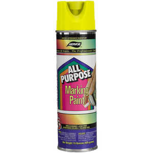 Aervoe All Purpose Marking Paint, Fluorescent Yellow