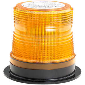 North American Signal Company Single-Flash Micro-Burst Strobe Light w/Amber Dome
