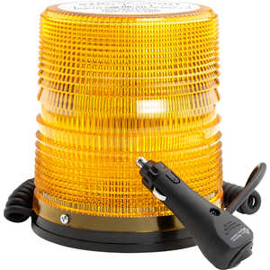 North American Signal 625 Series Amber Strobe Beacon w/Magnetic Mount