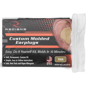 Radians Custom Molded Earplugs, Tan