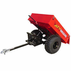 Bosski 800 UT Steel ATV Trailer - Single Axle, Red