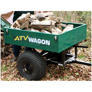 Bosski 800 UT Steel ATV Trailer - Single Axle, Green