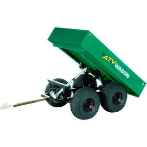 Bosski 1,600 UT Steel ATV Trailer - Tandem Axle, Green