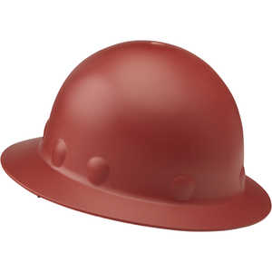 Fibre-Metal Roughneck P1 Full Brim Hard Hat with Ratchet, Red