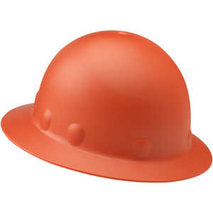 Fibre-Metal Roughneck P1 Full Brim Hard Hat with Ratchet, Hi-Viz Orange