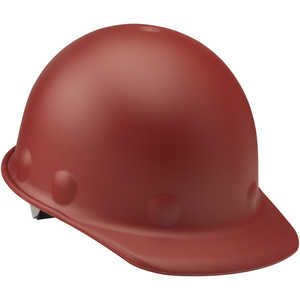 Fibre-Metal Roughneck P2 Cap Style Hard Hat with Swing Strap, Red