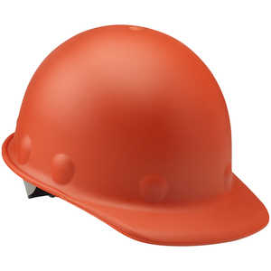 Fibre-Metal Roughneck P2 Cap Style Hard Hat with Swing Strap, Hi-Viz Orange