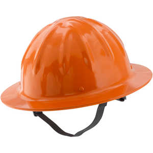 Skull Bucket Full Brim Aluminum Hard Hat, Hi-Viz Orange