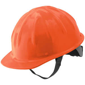Skull Bucket Cap Style Aluminum Hard Hat, Hi-Viz Orange