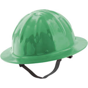 Skull Bucket Full Brim Aluminum Hard Hat, Hi-Viz Green