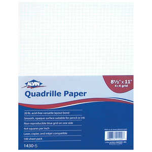 Alvin Quadrille Drawing Paper, 100 sheets