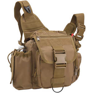 Rothco Advanced Tactical Shoulder Bag, Large, Coyote Brown