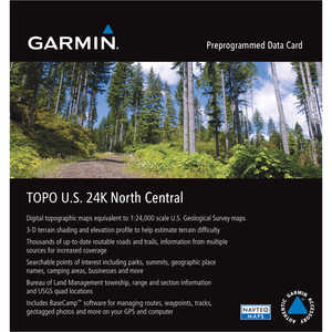 Garmin 24K TOPO Card, North Central