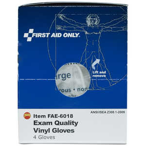 SmartCompliance First Aid Cabinet Refill, Vinyl Gloves