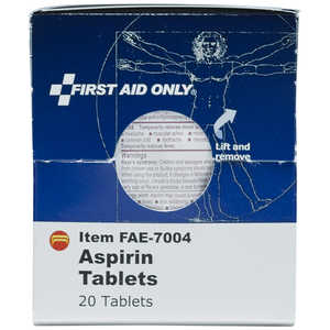 SmartCompliance First Aid Cabinet Refill, Aspirin Tablets