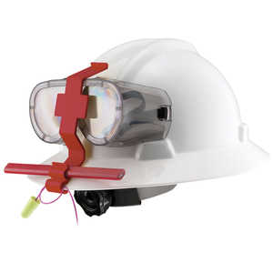 Goggle Guard Hard Hat Clip, Red