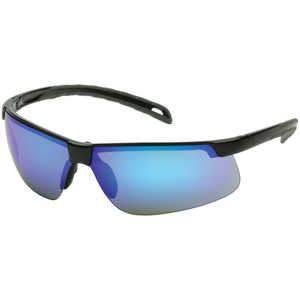 Pyramex Ever-Lite Safety Glasses, Black Frame/Ice Blue Mirror Lens