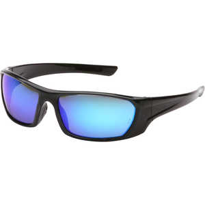 Pyramex Outlander Safety Glasses, Black Frame/Ice Blue Mirror Lens