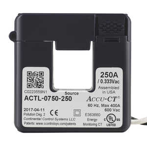 HOBO 250 Amp Accu-CT Split-Core Current Transformer 333mV Sensor
