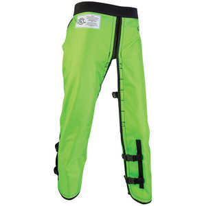 "Arborwear RAC Calf Wrap Style Chain Saw Chaps, Long, 34""-36"" Inseam, Safety Green"