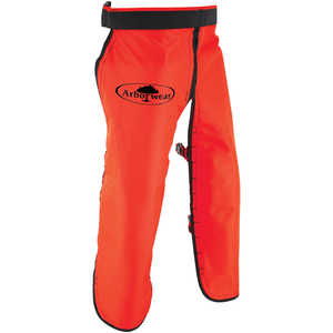 "Arborwear RAC Apron Style Chain Saw Chaps, Long, 34""-36"" Inseam, Safety Orange"