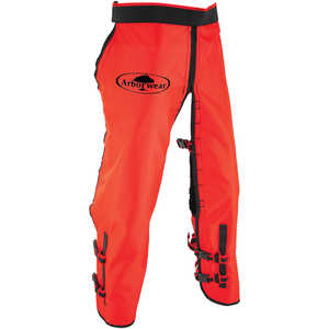 "Arborwear RAC Calf Wrap Style Chain Saw Chaps, Long, 34""-36"" Inseam, Safety Orange"