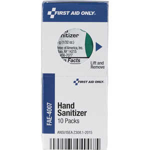 SmartCompliance First Aid Cabinet Refill, Hand Sanitizer Packets