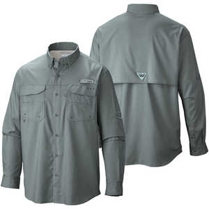 Columbia Blood and Guts III Long Sleeve Shirt, Pond, XX-Large