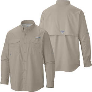 Columbia Blood and Guts III Long Sleeve Shirt, Fossil, XX-Large