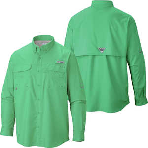 Columbia Blood and Guts III Long Sleeve Shirt, Dark Lime, Small