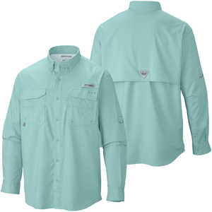 Columbia Blood and Guts III Long Sleeve Shirt, Gulf Stream, XX-Large