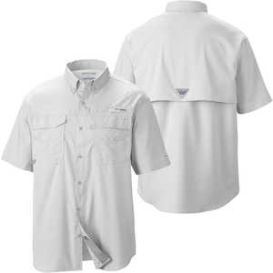Columbia Blood and Guts III Short Sleeve Shirt, White, Small