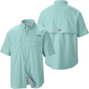 Columbia Blood and Guts III Short Sleeve Shirt, Gulf Stream, XX-Large