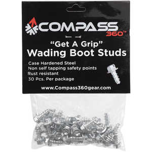 Get-A-Grip Boot Studs, Bag of 30 Screws For Compass 360 Stillwater II Wading Shoes