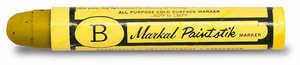 "Markal Paintstik ""B"", Yellow, Box of 12"