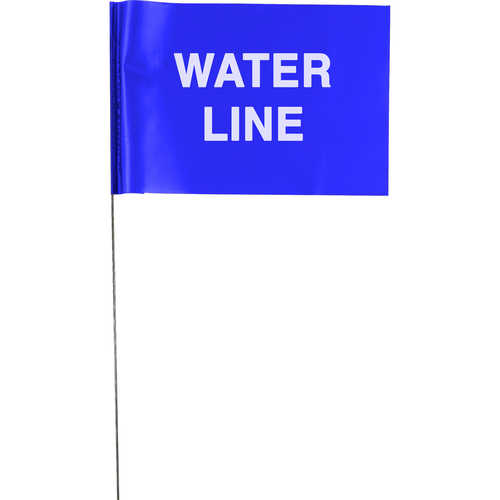 """UNDERGROUND WATER LINE"" Stake Wire Flags"