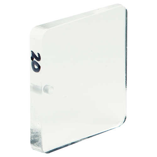 20 BAF, Clear, English Jim-Gem Square Shape Prism