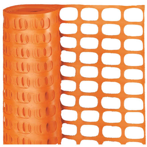 Hi-Vis Barrier Fencing, 4' x 100' 12 lb. Non-Stretched
