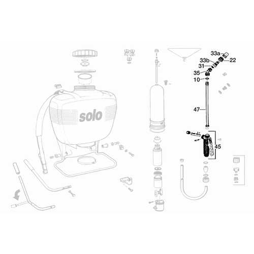 Solo Sprayers Replacement Shut-off, Wand, Elbow, Nozzle Assembly