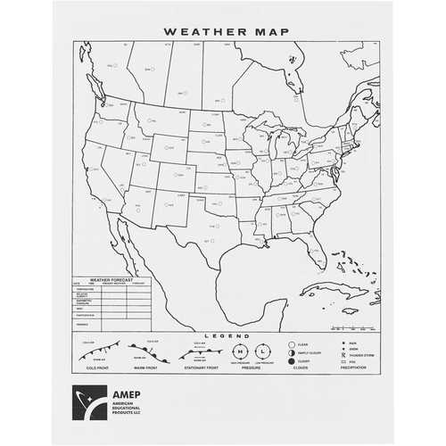 Hubbard Scientific Climagraph Sheets, 8-1/2˝ x 11˝, Pack of 50