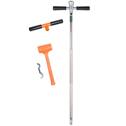 "AMS Hammer Head Soil Probe Kit, Heavy-Duty with 24"" Window"