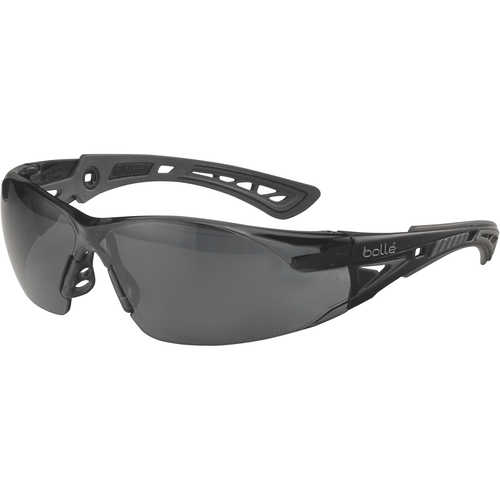 Bolle Rush+ Safety Glasses with Smoke Platinum Lens