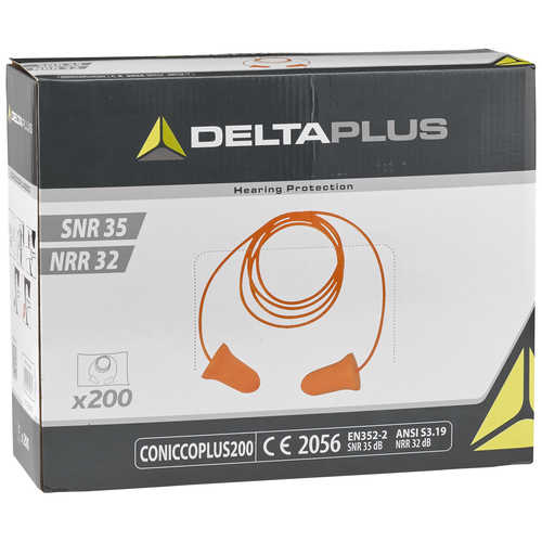 Delta Plus Conic Plus Foam Earplugs