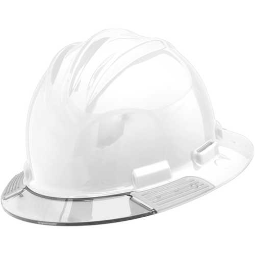 Bullard AboveView Hard Hat, White Hat with Clear Visor