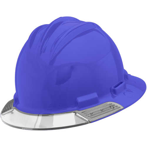 Bullard AboveView Hard Hat, Blue Hat with Clear Visor
