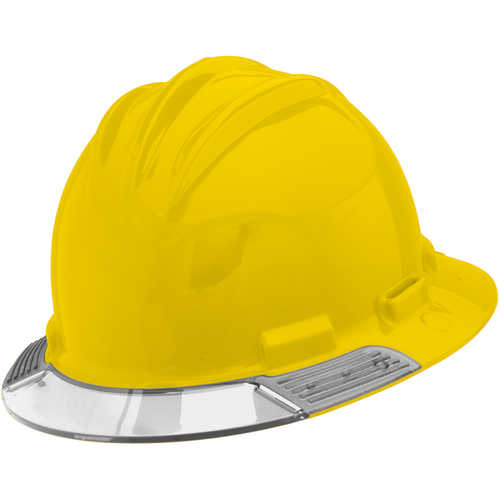 Bullard AboveView Hard Hat, Yellow Hat with Clear Visor