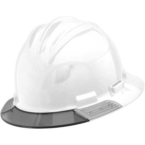 Bullard AboveView Hard Hat, White Hat with Grey Visor