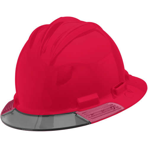 Bullard AboveView Hard Hat, Red Hat with Grey Visor